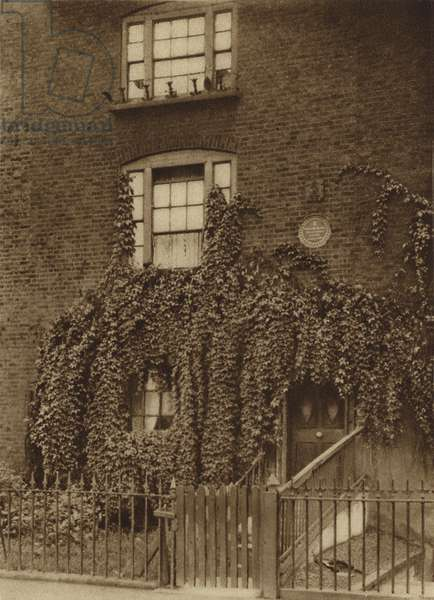 23 Hercules Road, Lambeth, home of William Blake from 1793 to 1796 (b/w photo)