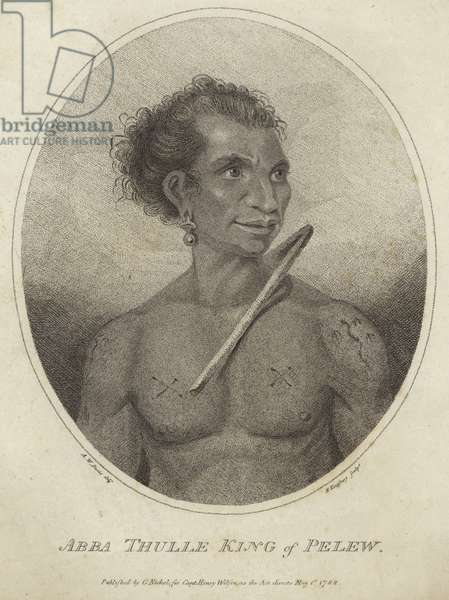 Portrait of Abba Thulle, King of Pelew (engraving)