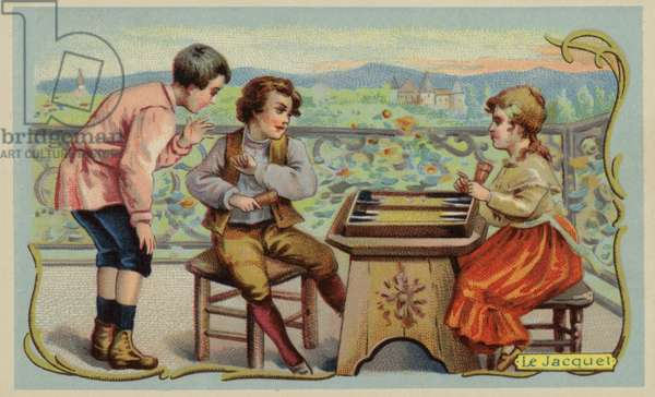 Backgammon (chromolitho)