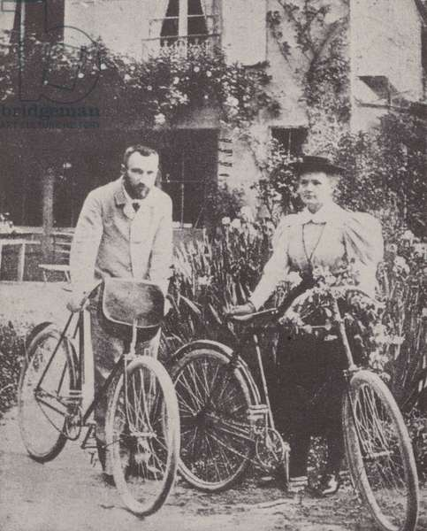 Pierre and Marie Curie (b/w photo)