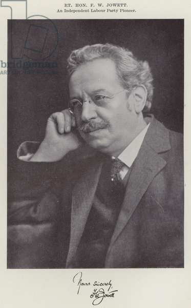 Right Honourable F W Jowett, an Independent Labour Party Pioneer (b/w photo)