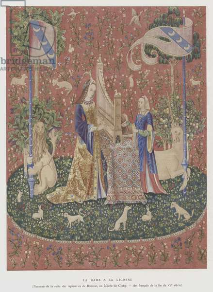 The Lady with the Unicorn, late 15th Century (colour litho)