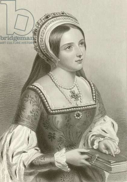 Katherine Parr, 6th wife of king Henry VIII (engraving)