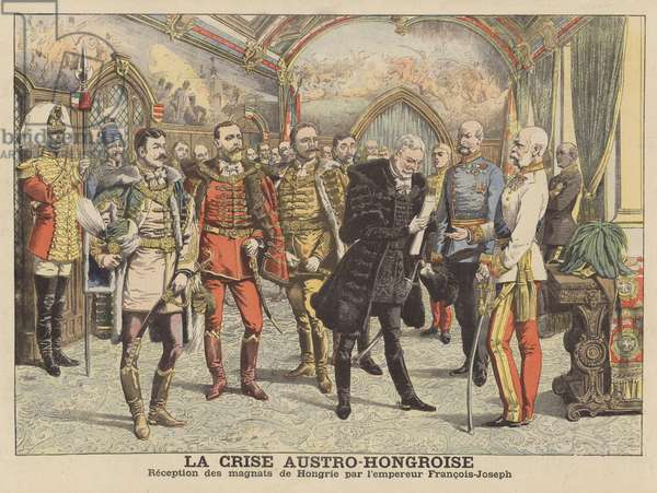 The Austro-Hungarian crisis (colour litho)