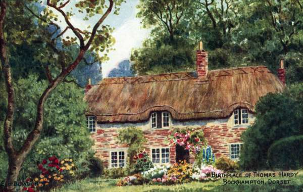 Birthplace of Thomas Hardy, Bockhampton, Dorset (colour litho)