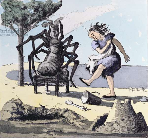 Little Miss Muffet, 1989 (etching with aquatint)