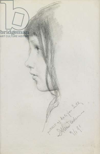 Kate Millet, January 1891 (pencil on paper)