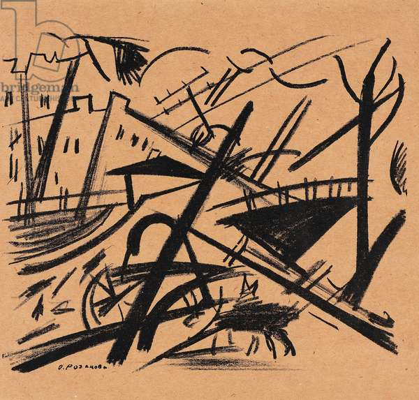 A Street, c.1911 (litho on thin brown paper)