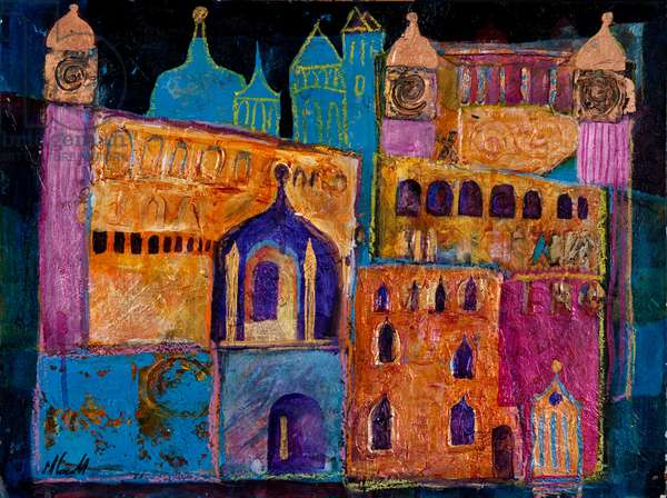 Arabian Nights, 2012 (acrylic & collage on paper)