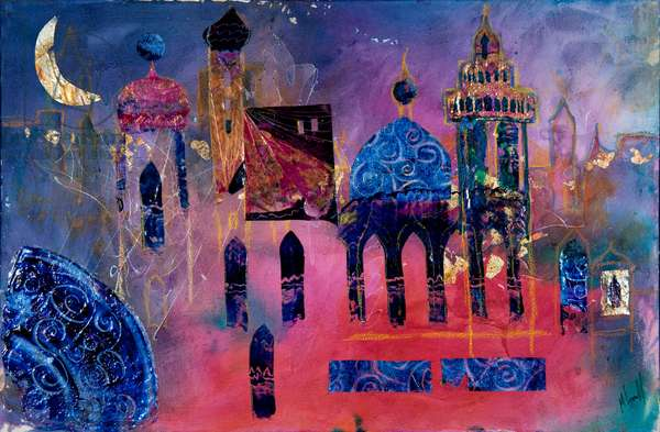 Arabian Fantasy, 2012 (acrylic & collage on paper)