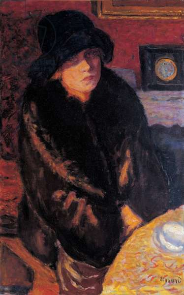 Portrait of Marta Bonnard, (oil on canvas)