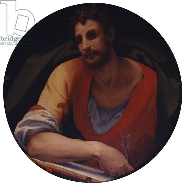 St. Matthew the Evangelist, by Jacopo Carrucci known as Pontormo, 1525-1528, 16th century, oil on panel.