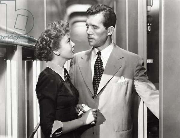 Ida Lupino and Stephen McNally in 'Woman in Hiding', 1950 (b/w photo)