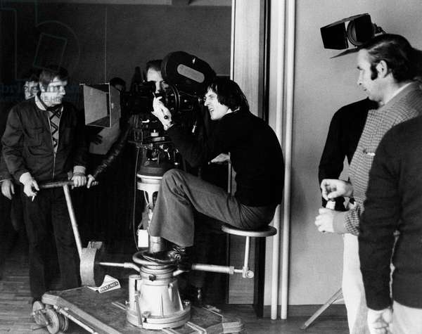 Dario Argento using the camera on the set of Deep Red