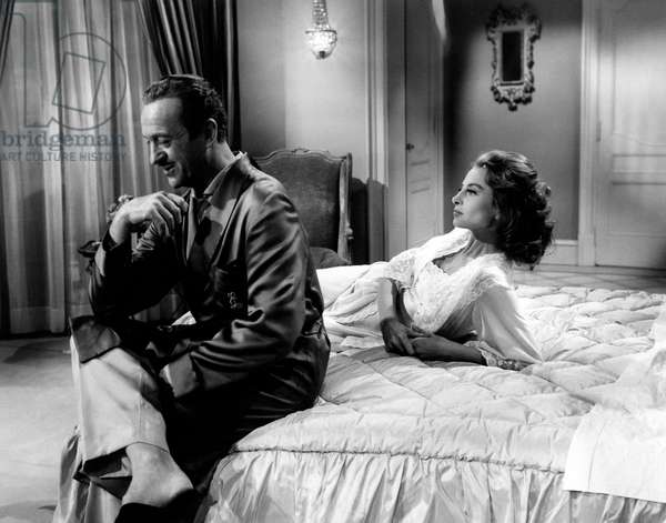 Capucine and David Niven in 'The Pink Panther', 1963 (b/w photo)