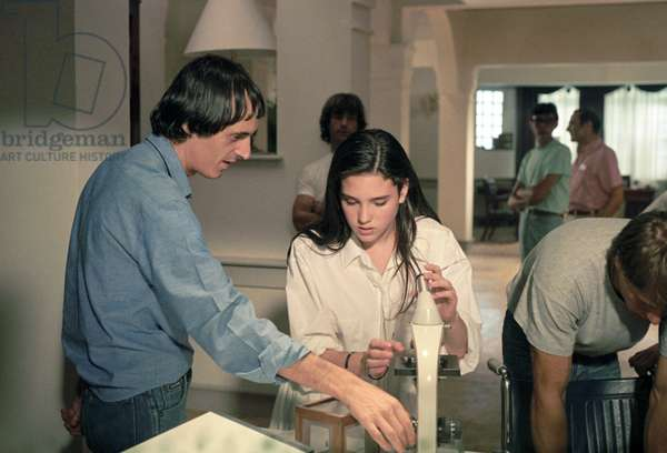 Dario Argento on the set of Phenomena, Italy, 1984 (photo)