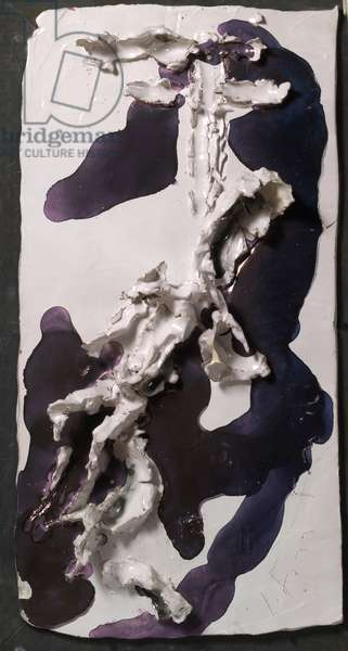 Deposition (Deposizione), by Lucio Fontana, 1955, 20th Century, painted ceramic, 70 x 36 x 7,5 cm