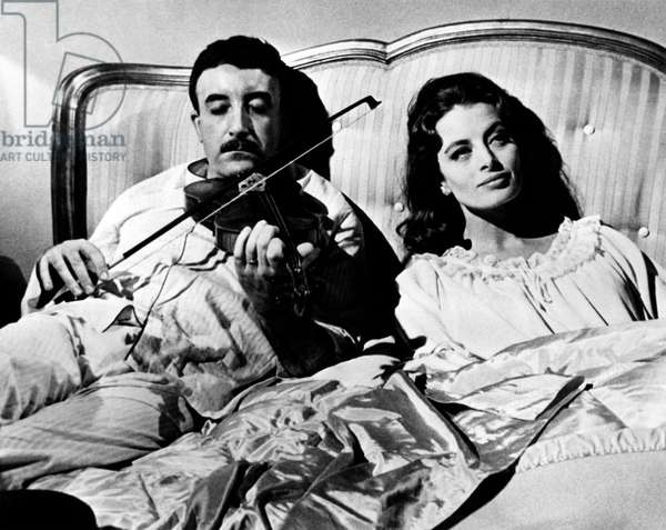Capucine and Peter Sellers in 'The Pink Panther', 1963 (b/w photo)