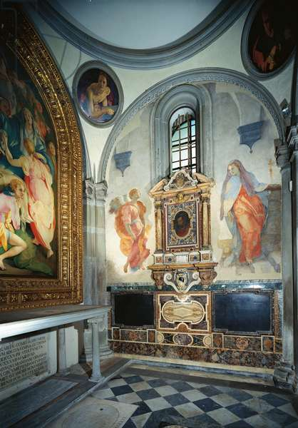 Annunciation (Annunciazione), by Jacopo Carrucci known as Pontormo, 1525 - 1528, 16th Century, fresco, 368 x 168 cm