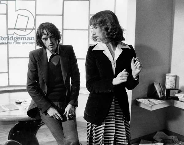 Dario Argento and Daria Nicolodi on the set of Deep Red