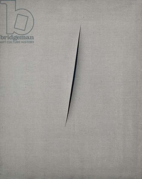 Spatial Concept, Expectation (Concetto spaziale, Attesa), by Lucio Fontana, 1960, 20th Century, mixed media on canvas, 100 x 80 cm