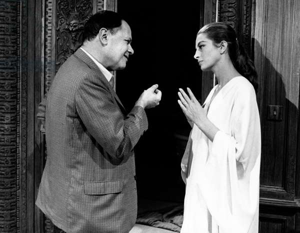 Capucine and Joseph Leo Mankiewicz in 'The Honey Pot', 1967 (b/w photo)