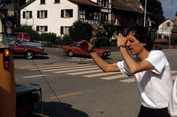 Dario Argento on the set of the film Creepers