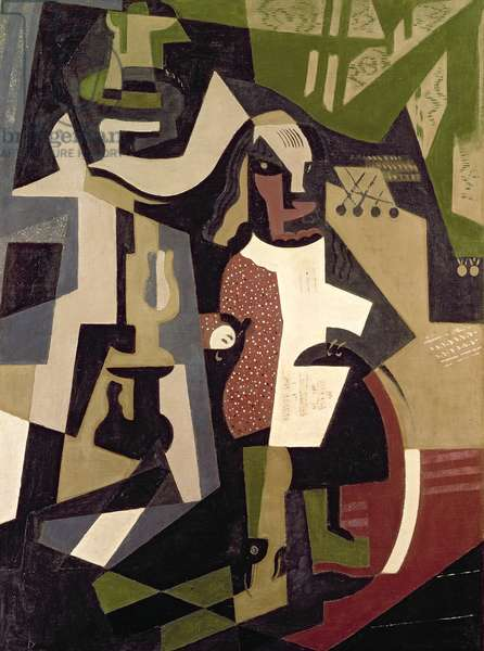 Composition with People, 1916 (oil on canvas)