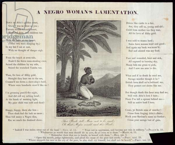 A Negro Woman's Lament, c.1805 (etching and engraving on paper)