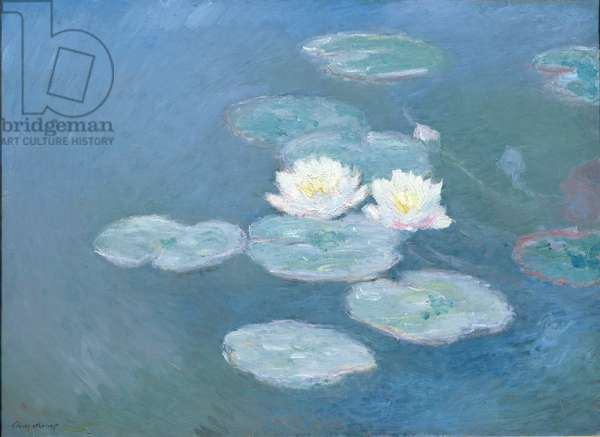 Waterlilies, Evening (oil on canvas) (see detail 382333)