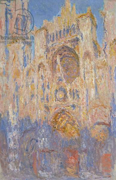 Rouen Cathedral, Effects of Sunlight, Sunset, 1892 (oil on canvas)