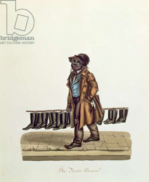 The Boots Cleaner, c.1840 (w/c on paper)