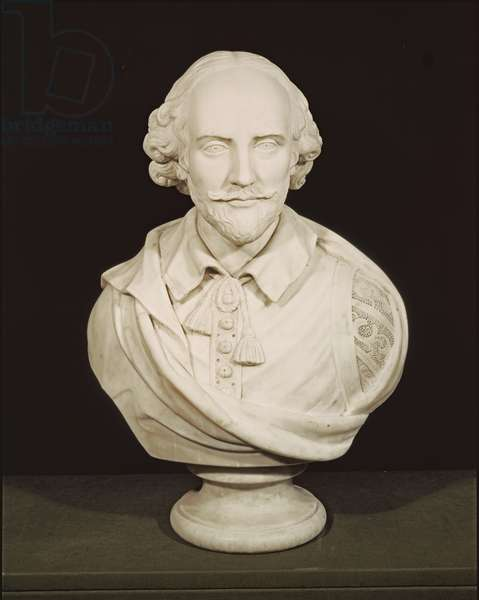 Bust of William Shakespeare (1564-1616) (marble)