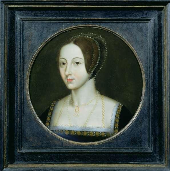 Portrait of Anne Boleyn (c.1507-36), c.1600 (oil on copper)