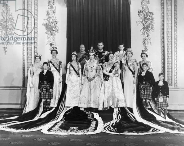 Coronation of Queen Elizabeth II, 2nd June 1953 (b/ photo)