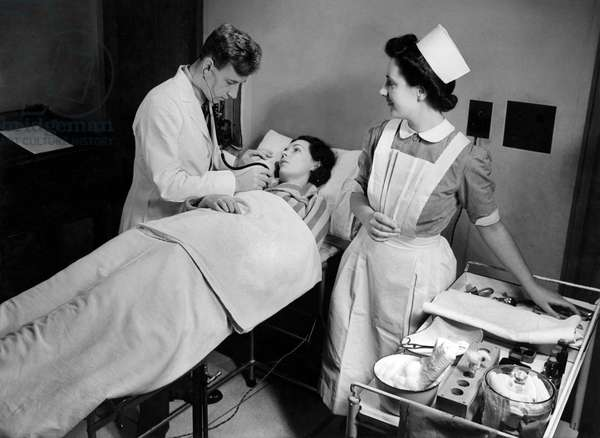 Miss Neilson, Nurse, University College Hospital, 1943 (b/w photo)
