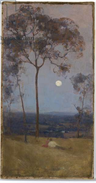 'Above us the great grave sky', 1890 (oil on canvas)