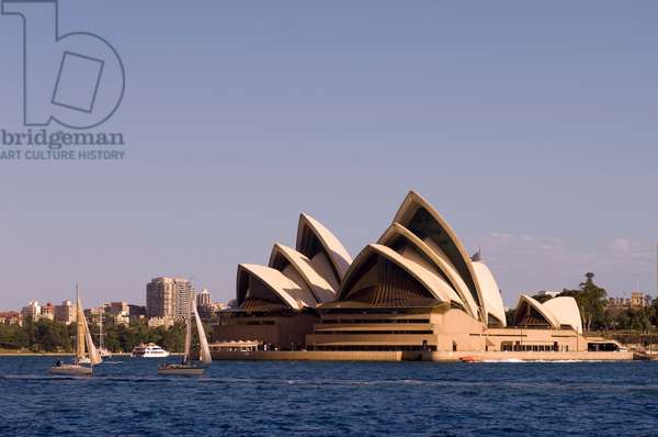 A view of the Sydney Opera House from across the harbor (photo)