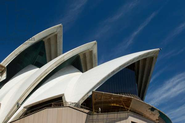 A detail of the roof of the Sydney Opera House (photo)