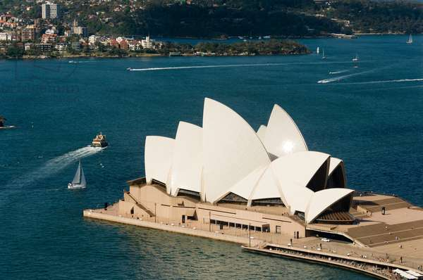 An aerial view of the Sydney Opera House (photo)