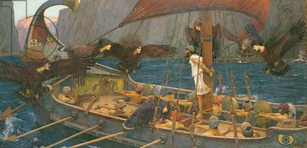 Ulysses and the Sirens, 1891 (oil on canvas)
