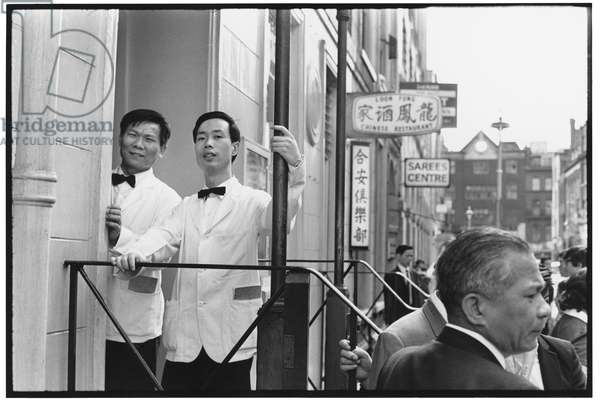 Chinatown, Soho, London, 1979 (b/w photo)