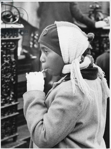 Harlem, New York, 1960 (b/w photo)