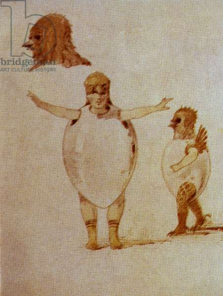 Dance of the Hatched Chickens, sketch for costumes for the ballet