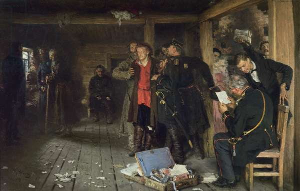 The Arrest of the Propagandist, 1880-89 (oil on canvas)