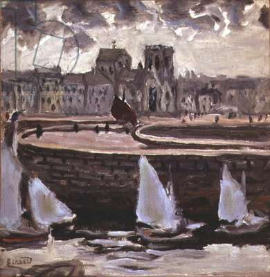Port at Low Tide, c.1905 (oil on canvas)