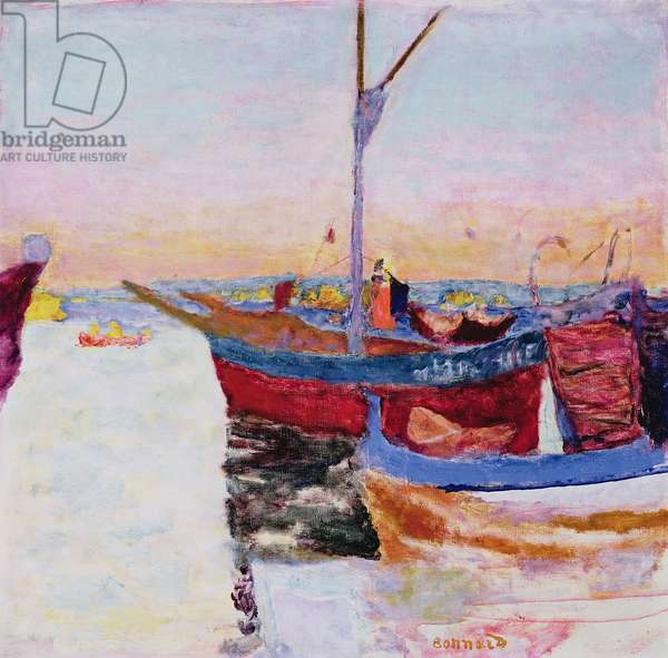 Boats at Cannes, Dusk, 1924 (oil on canvas)