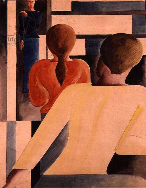 Blue, Yellow and Red Interior, c.1931 (w/c on paper)