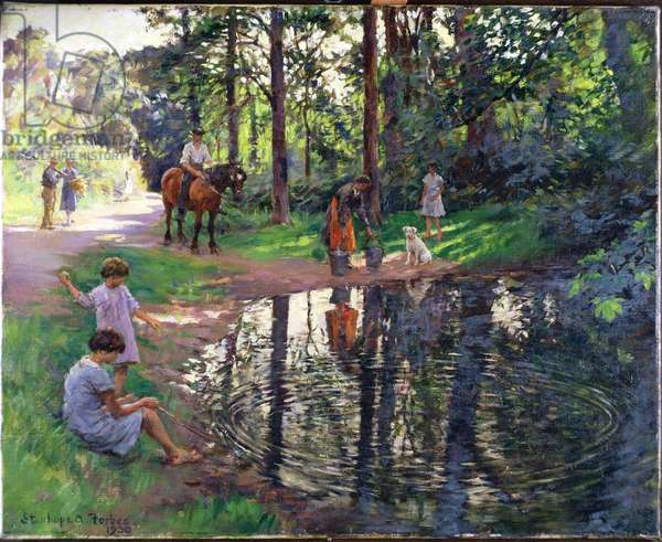 The Pond, 1930 (oil on canvas)