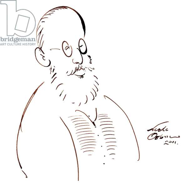 Edward Lear - caricature in his style
